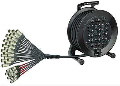 Cable multipaire son avec enrouleur 30m