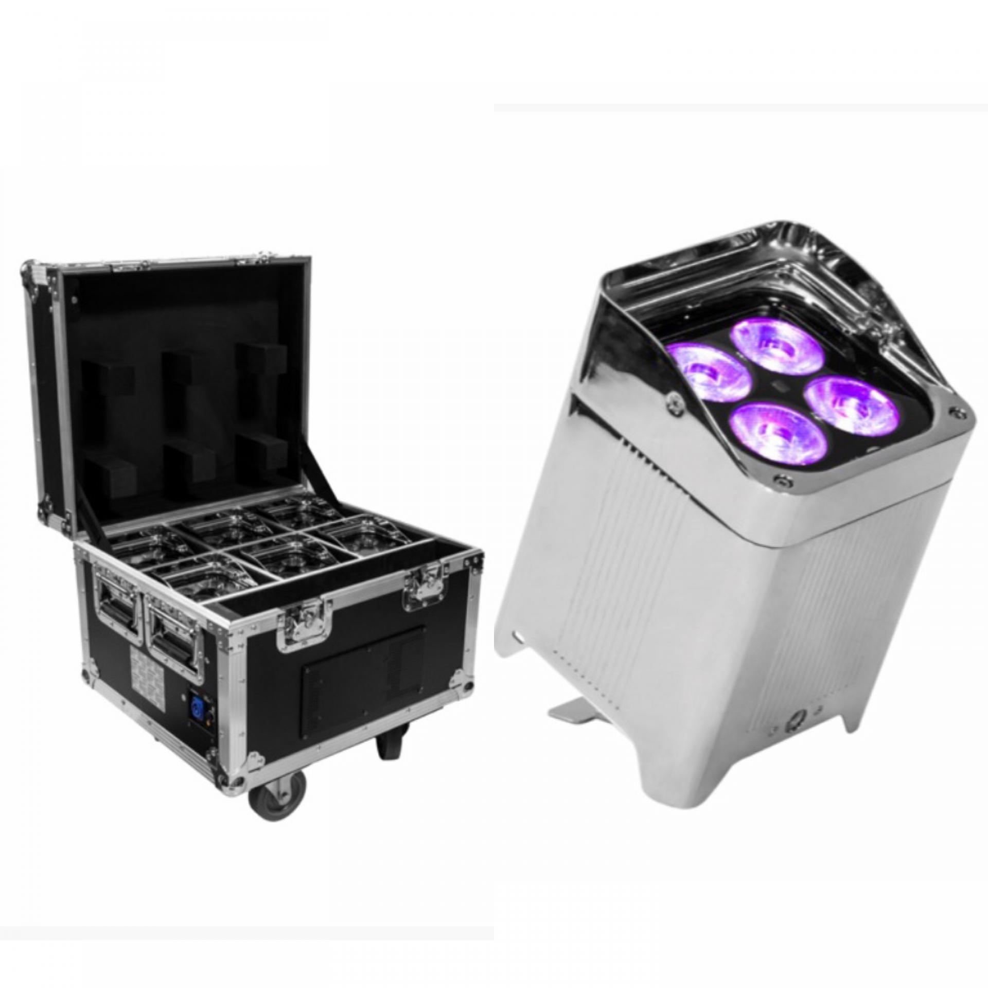 Kit de 6 projecteurs LED sur batterie  IP65